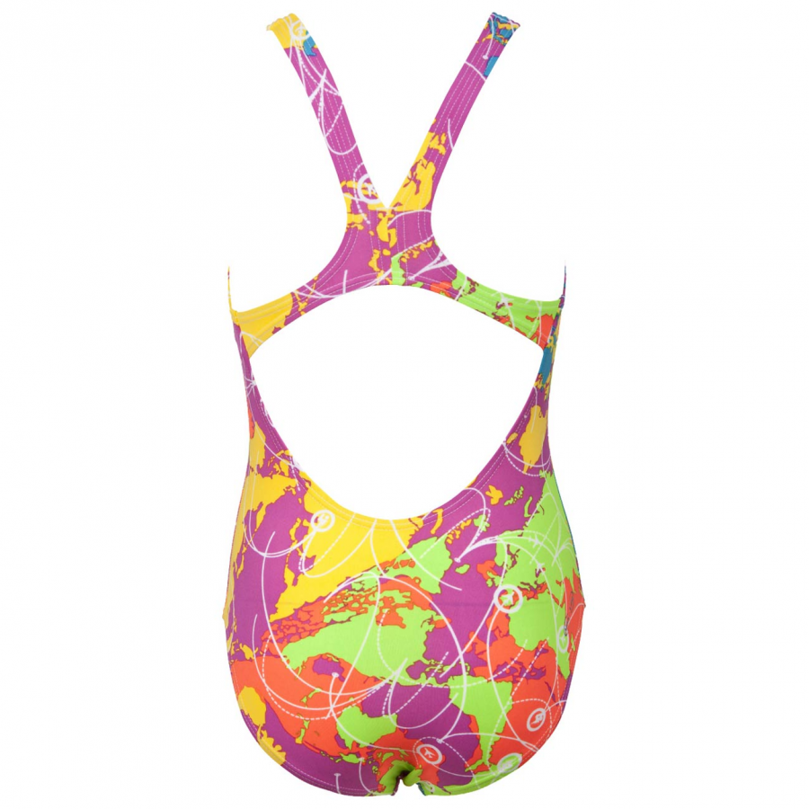 Shop Arena Junior Pink Swimsuit - Routes