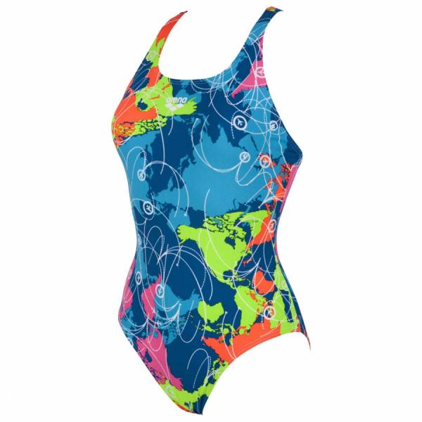 Ladies Arena Blue Swimsuit Routes