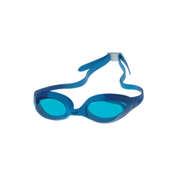 Arena Spider Junior Swimming Goggles -  Blue frame with light blue lens.