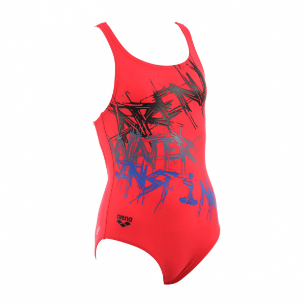 Arena Girls Red Swimsuit - Spray