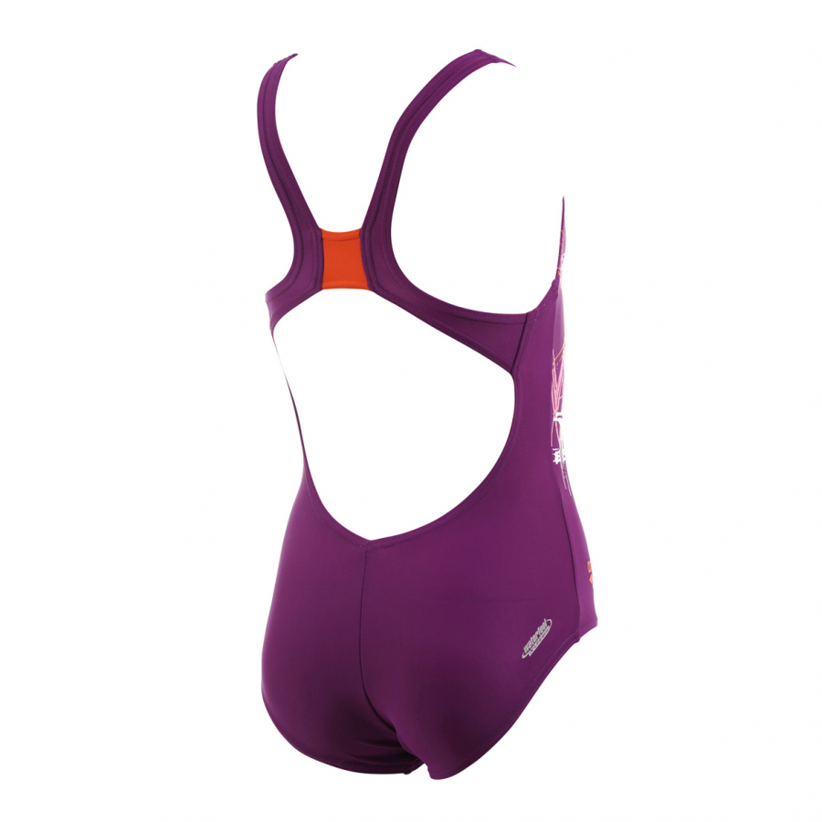 Arena Girls Purple Swimsuit - Spray