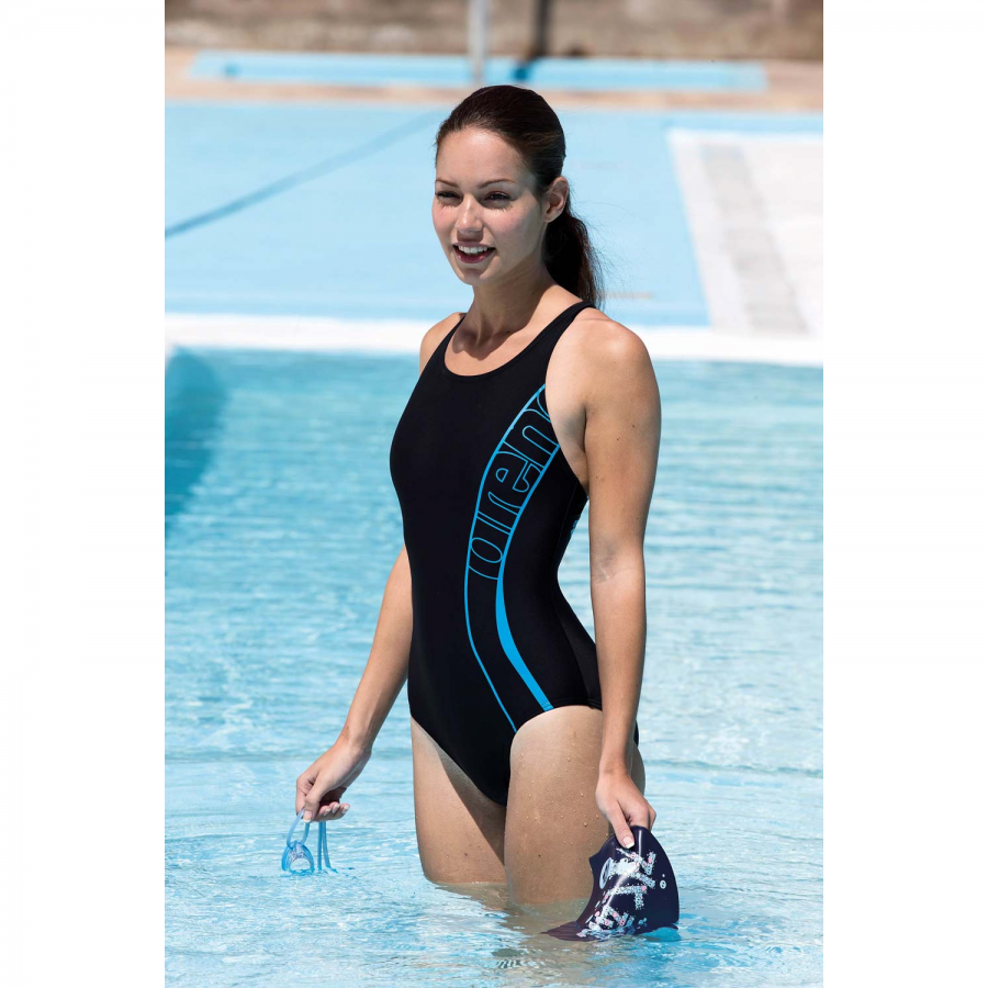 7d7ede51c8 Arena Womens Sprng Black One Piece Swim costume
