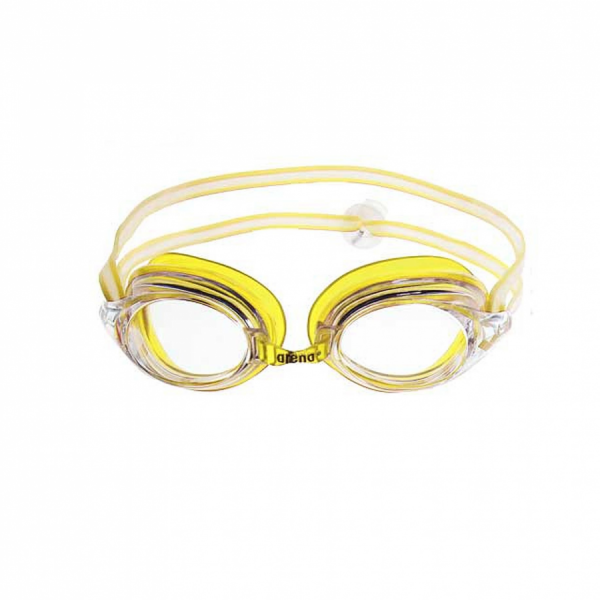 Arena Strike Junior swimming Goggles - Yellow with Clear Lens