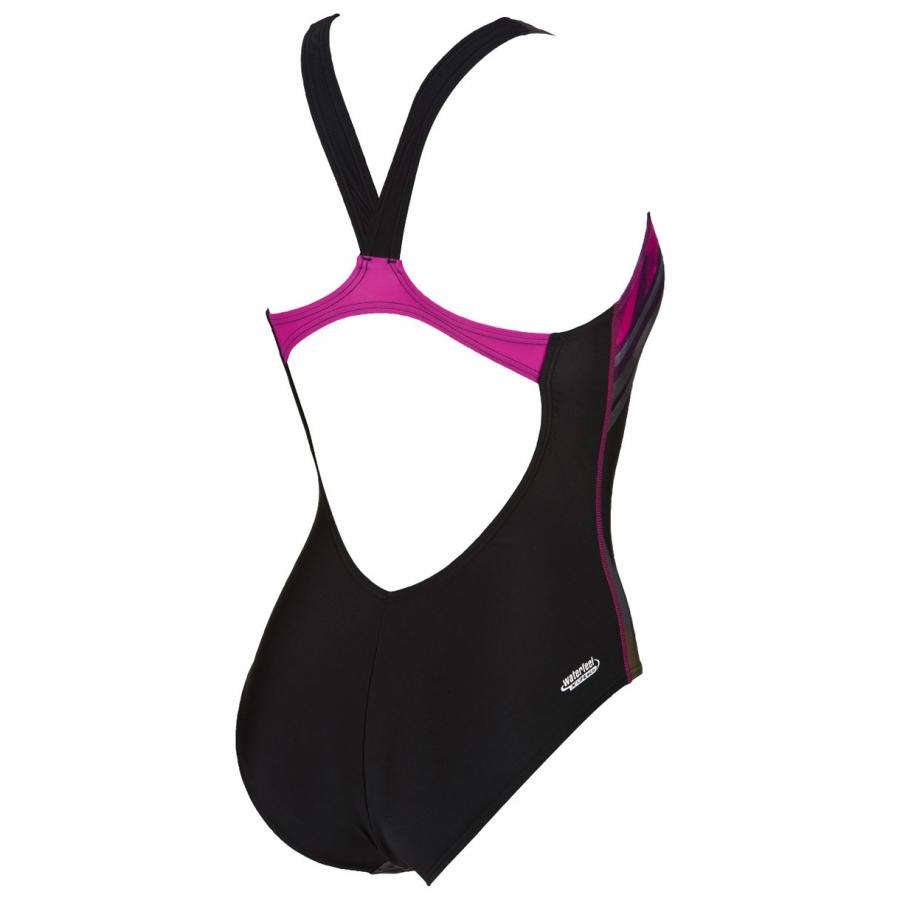 Shop Arena Tartan Black Swimming Costume