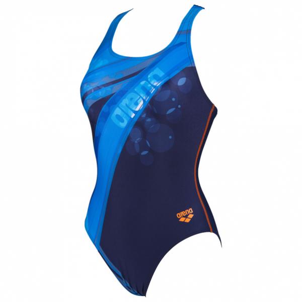 Shop Arena Tartan Blue Swimming Costume