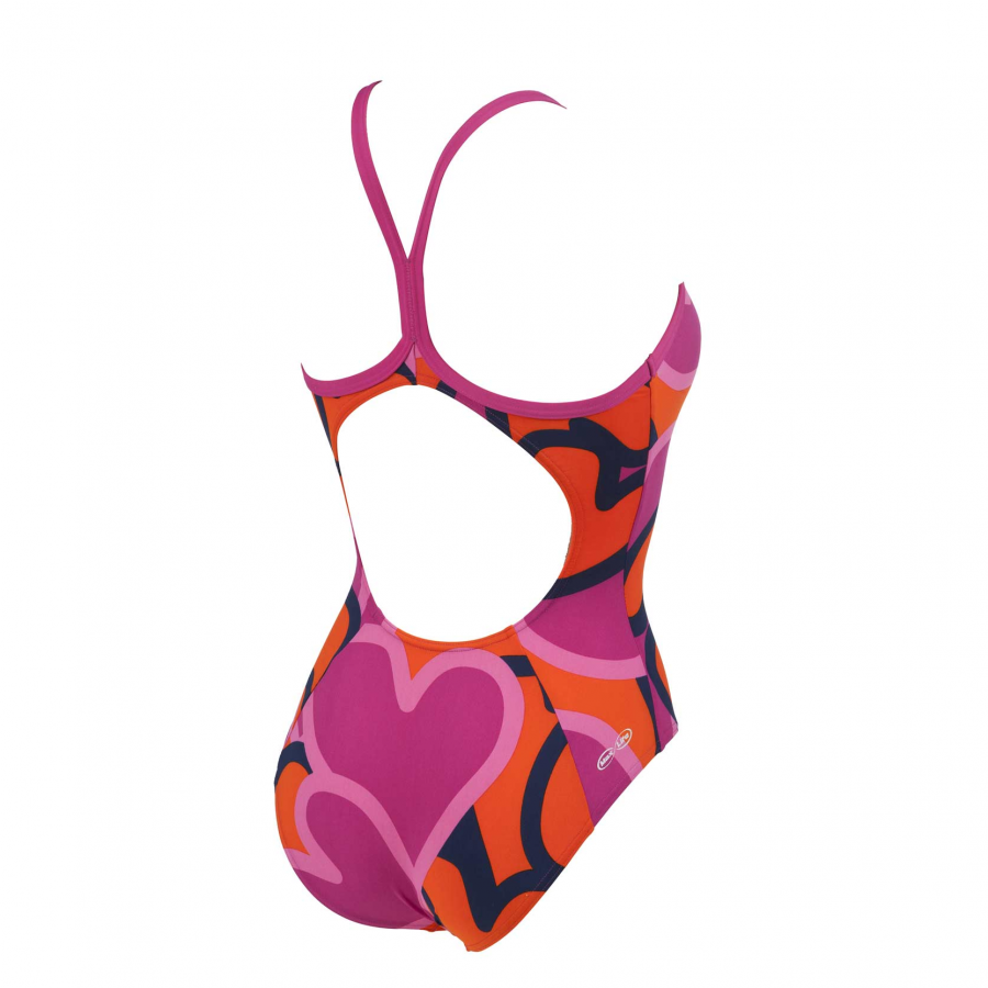 Arena Ladies Purple and Mango Swimsuit - Tickers