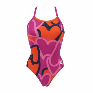 Arena Ladies Purple and Mango Swimsuit - Tickers