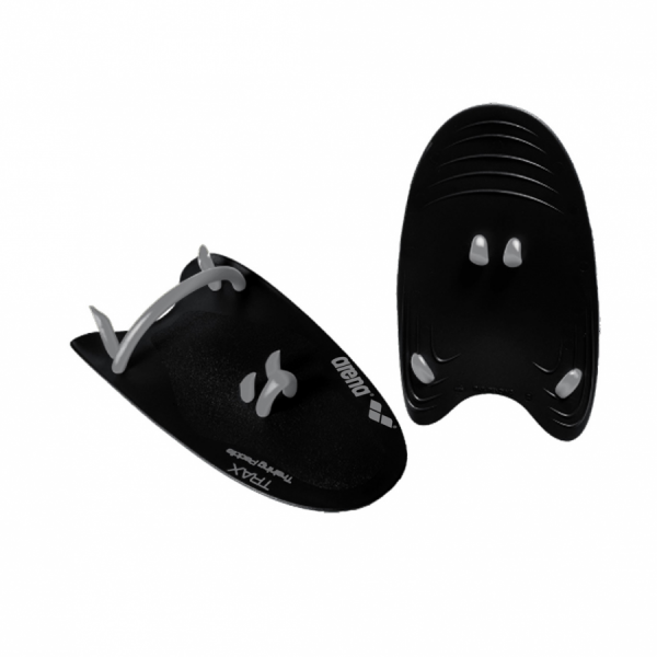 Arena Trax Hand Paddles - Black/Silver