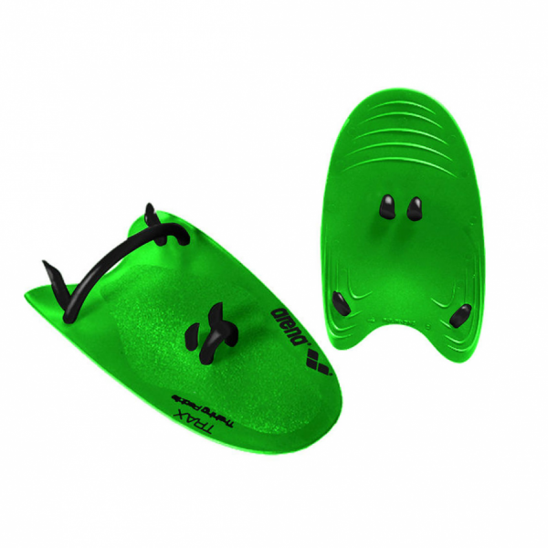 Arena Trax Hand Paddles - Green/Black