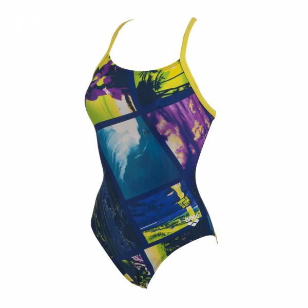 Ladies Tropic Arena Swimsuit blue/ yellow / purple