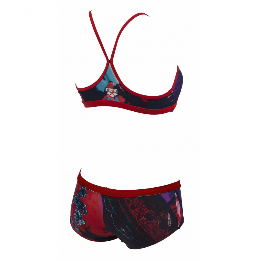 Ladies Tropic Two Piece Navy and Red Bikini
