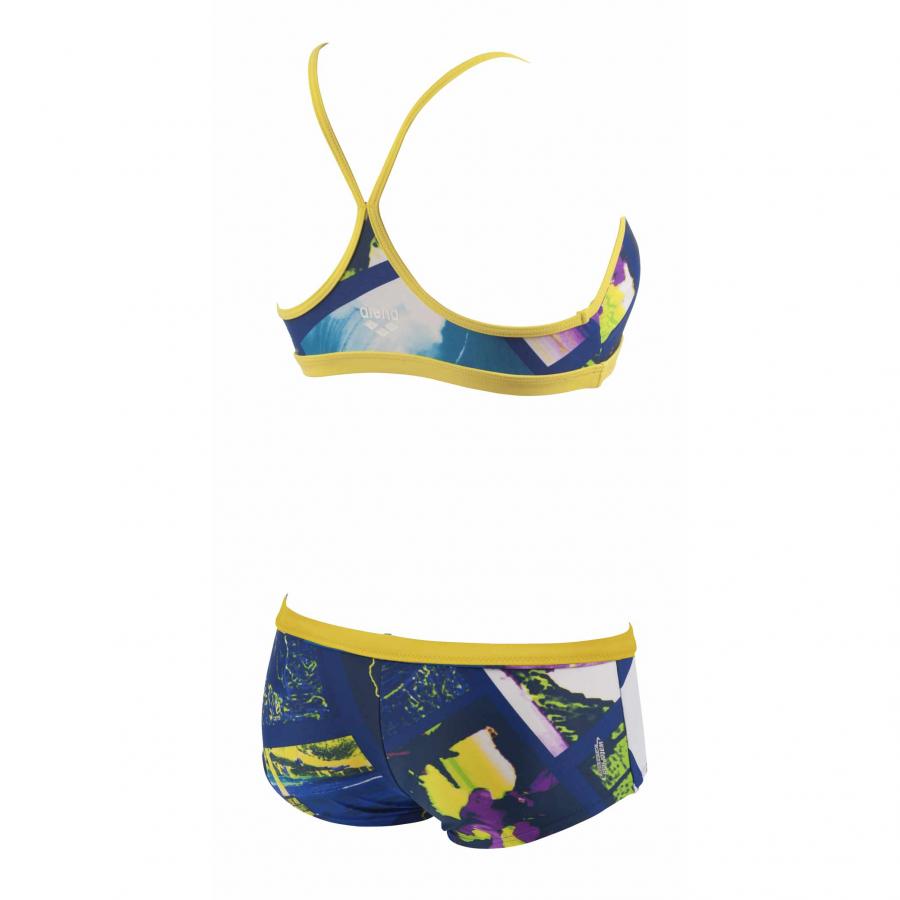 Ladies Tropic Two Piece Blue and Yellow Bikini