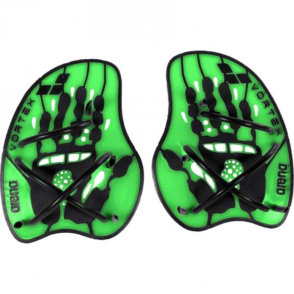 Arena Vortex Evolution Hand Paddles - Black/Green