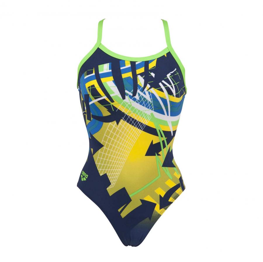 Ladies 'Warning' Arena Blue Swimsuit