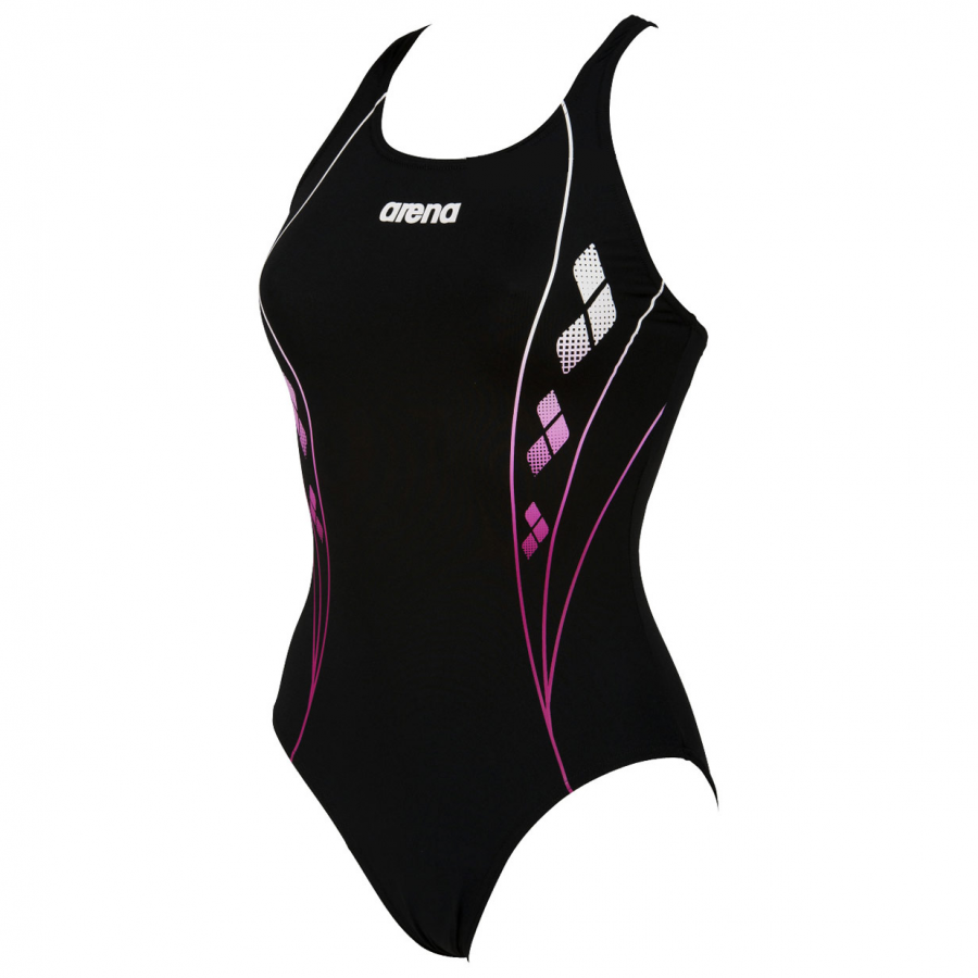 Arena Web Black and Pink Swimsuit
