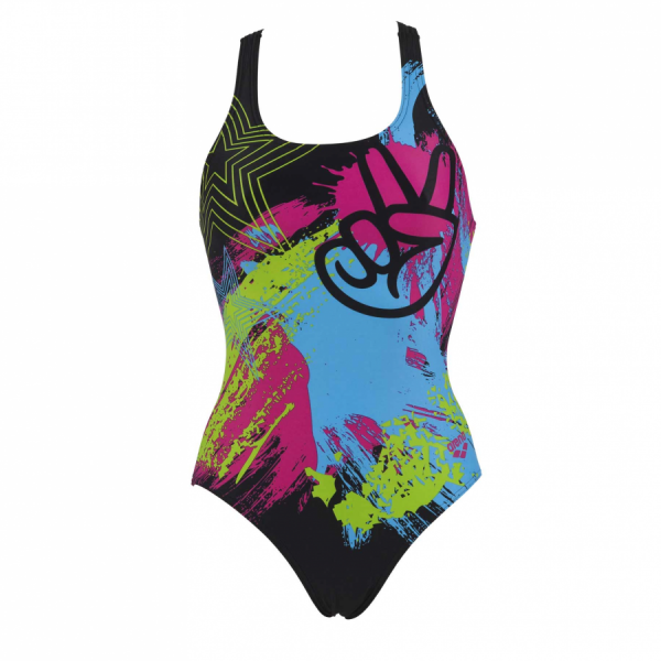 Arena Woodstock Ladies Black Swimsuit
