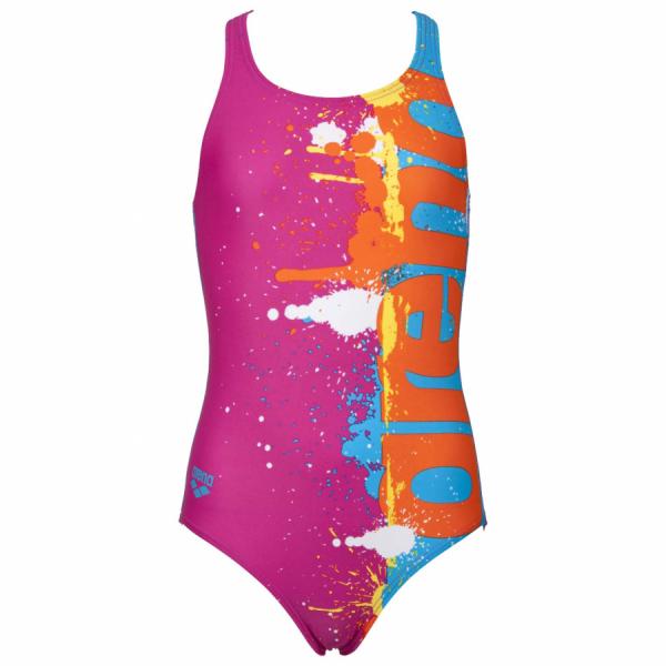 Shop Arena Girls Pink Swimsuit - Writer