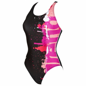 Shop Arena Writer Black and Pink Swimsuit