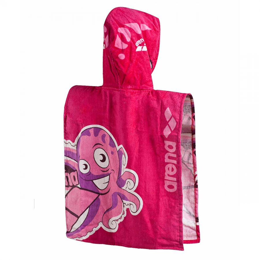 Arena Zhiroito Kids Hooded Towel - Strawberry Pink