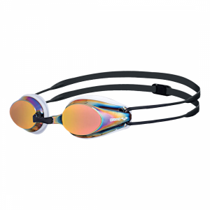 Arena White Red Tracks Mirror Racing Goggles