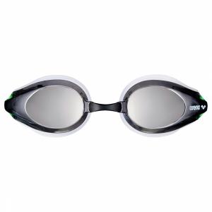 Shop Arena Tracks Mirror Racing Goggles - Green / White