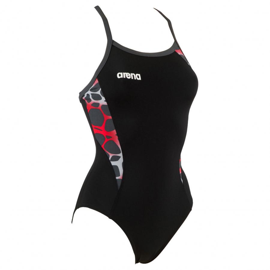 Shop Arena Carbonite Ladies Swimsuit - Black / Red