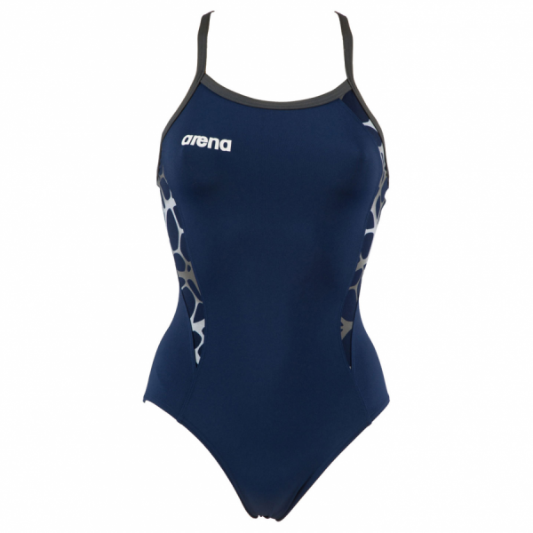Buy Arena Carbonite Ladies Swimsuit - Navy Blue
