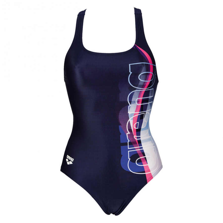 Buy Arena Fogo One Piece Swimsuit - Navy Blue