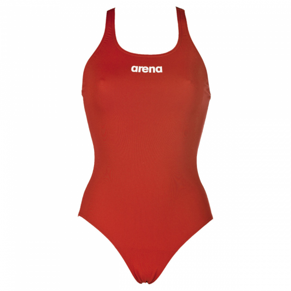 Arena 'Solid Pro' Medium Leg Red Swimsuit