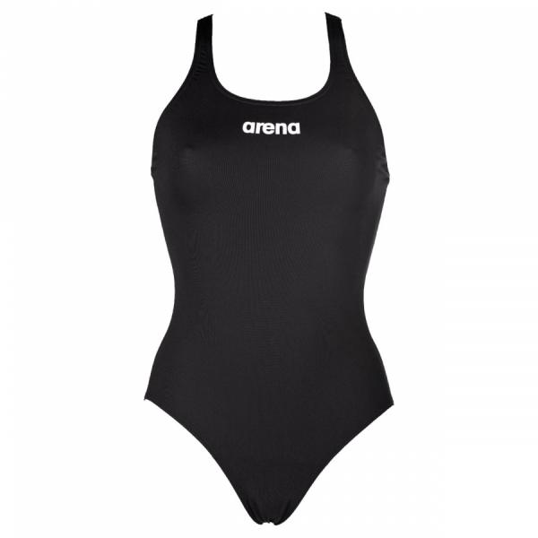 Arena 'Solid Pro' Medium Leg Black Swimsuit