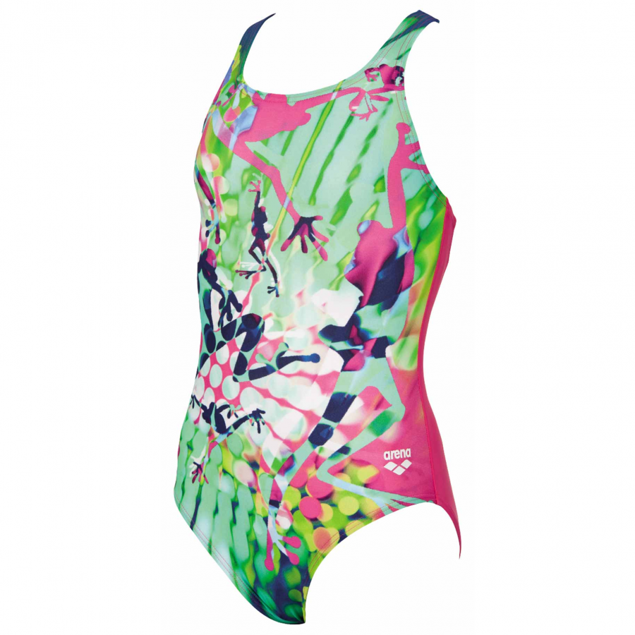 Arena Brasil Girls Swimsuit - Pink / Green