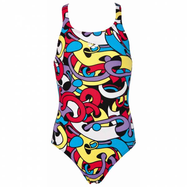 Arena Cores Girls Swimsuit - Red / Yellow
