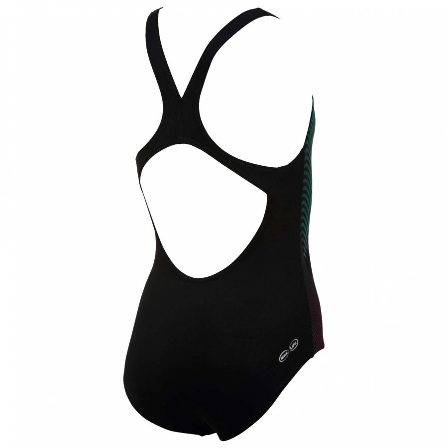Arena Espiral Girls Black Swimming Costume