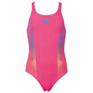 Arena Espiral Girls Pink Swimming Costume
