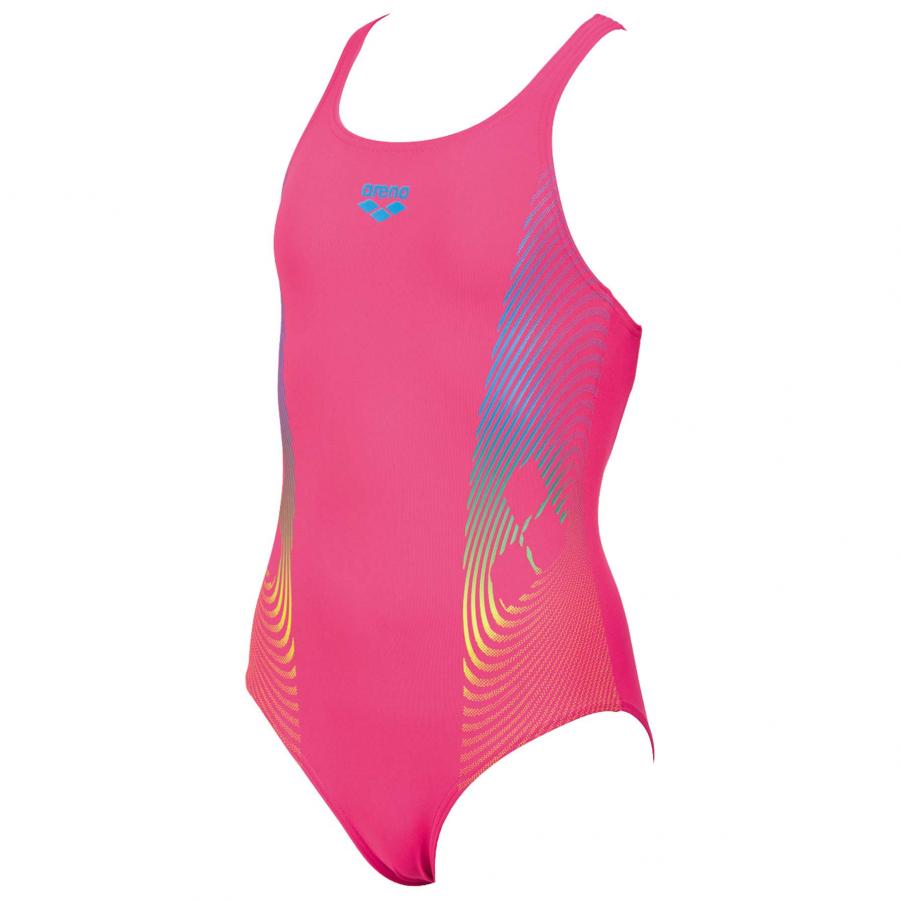 6cc6c887b4 Arena Espiral Girls Pink Swimming Costume