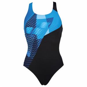 Arena Himmel One Piece Swimsuit - Black / Blue