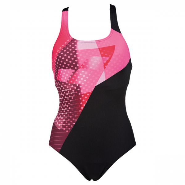 Arena Himmel One Piece Swimsuit - Black / Pink