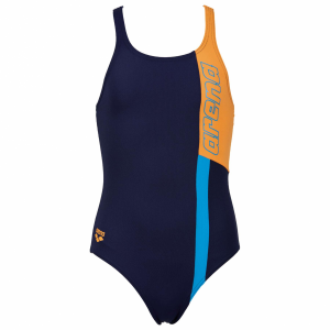 Arena Ipanema Girls Swimming Costume - Navy