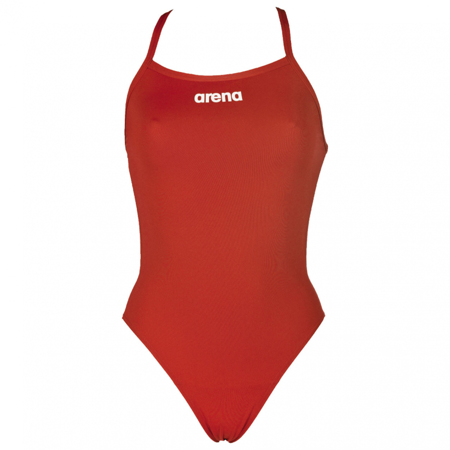 Arena 'Solid LightTech' High Leg Red Swimsuit
