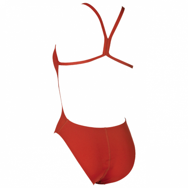 Arena Red 'Solid Light Tech' High Leg Swimsuit