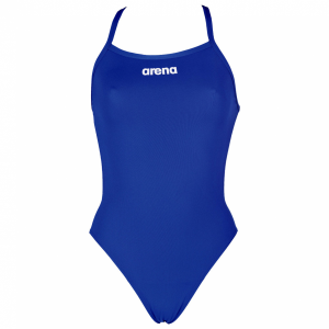 Arena Royal Blue 'Solid Light Tech' High Leg Swimsuit