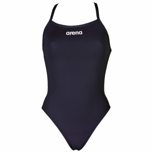 Arena Navy Blue 'Solid Light Tech' High Leg Swimsuit