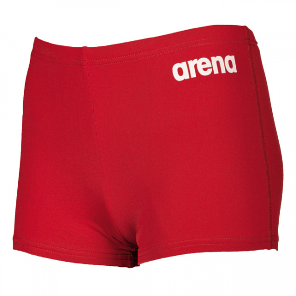 Arena Youth Solid Swim Shorts - Red