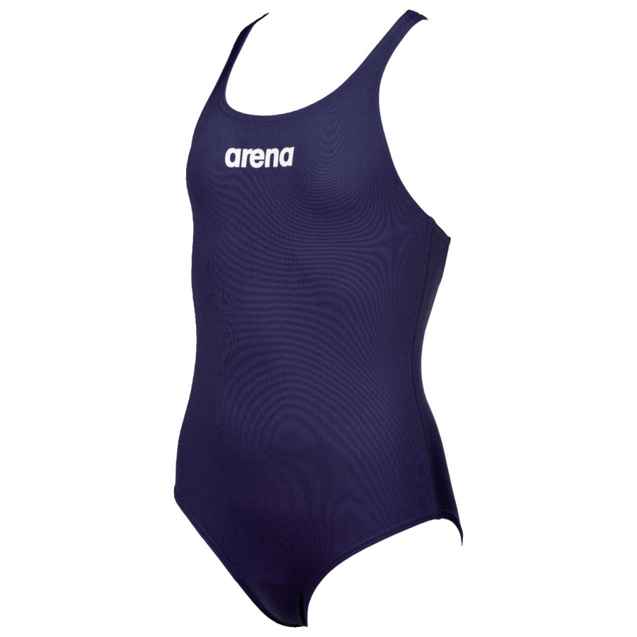 Arena Solid Pro Girls Swimsuit - Navy Blue