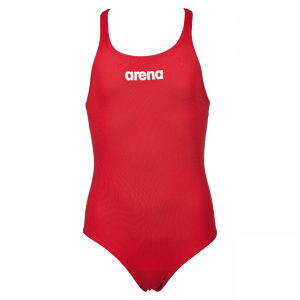 Arena Solid Pro Girls Red Swimsuit