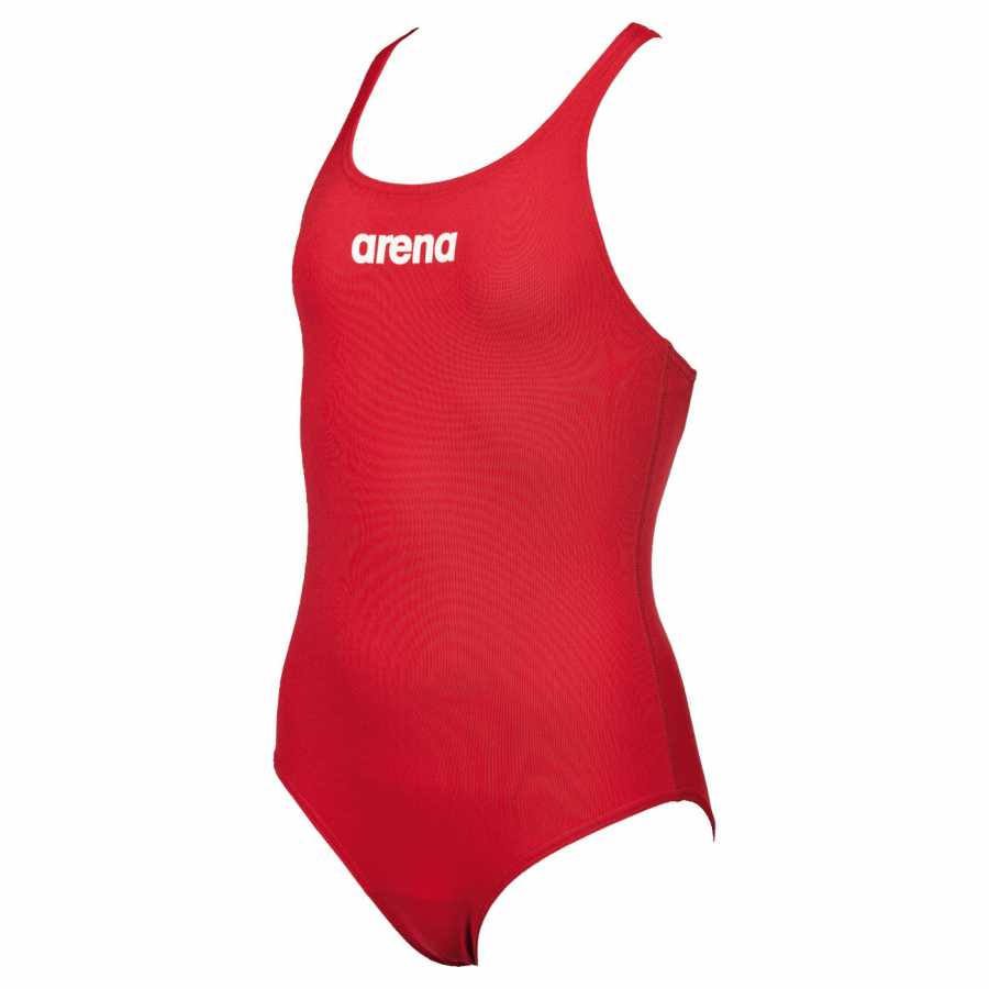 Arena Solid Pro Girls Swimsuit - Red