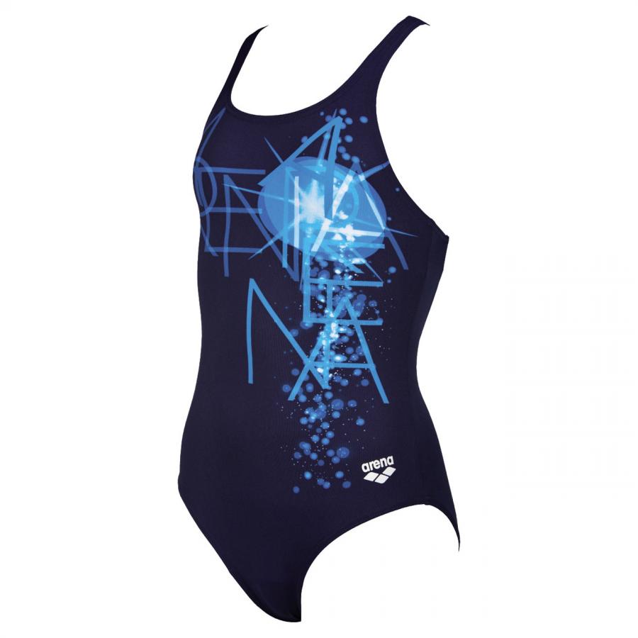 Arena Girls Swimming Costume - Vatten Blue