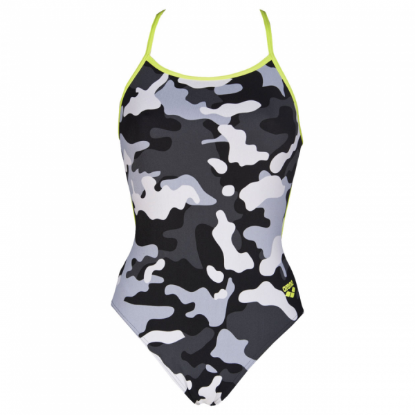 Arena Chameleon Black and Grey Swimsuit  **LINED**