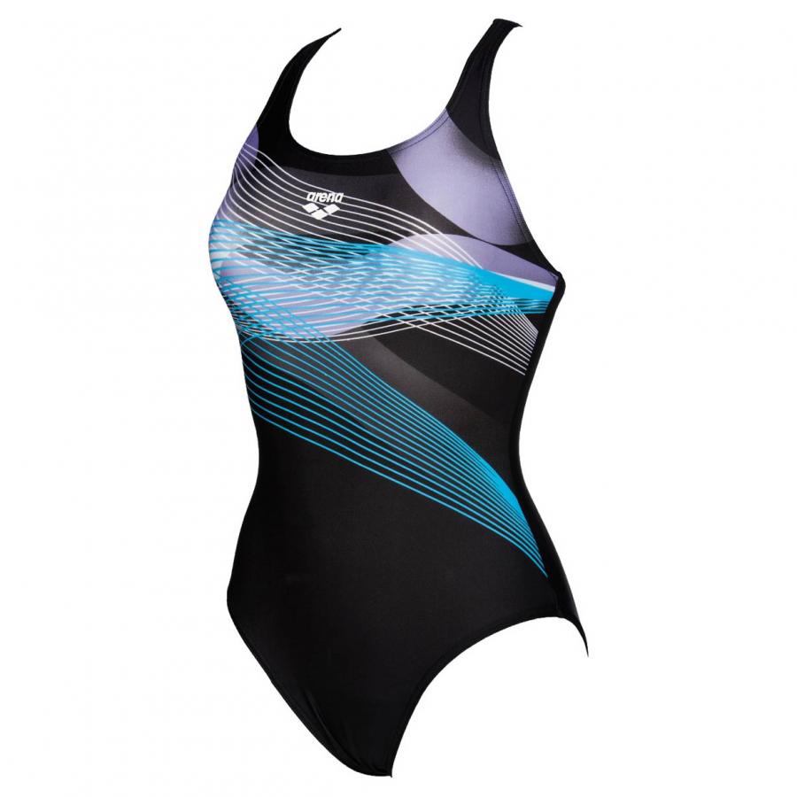 Arena Viborg Black / Turquoise Swimsuit