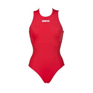 Arena Solid Red Water Polo Swimsuit